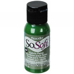DecoArt SoSoft Fabric Acrylic Paint - Olive Green